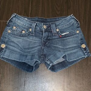 Gently use true religion shorts